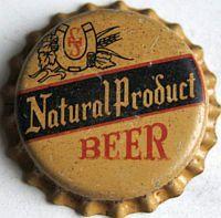 Natural Product Beer, bottle cap | Schutz & Hilgers Jordan Brewery Inc., Jordan, Minnesota USA | cap used 1938-1940 | One sold on eBay 6/2011 for $113.00.