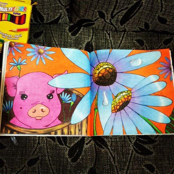 Love pig .... acabei de acabar meu segundo desenho do #livrodosossego