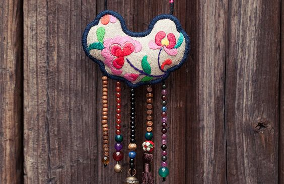Wang's Ethnic Handmade Hand Embroidered Lucky by UTTUdesign