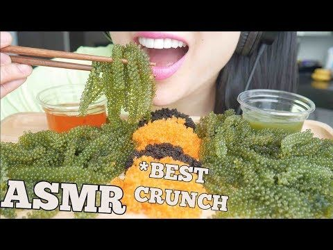 Asmr Best Crunch Fresh Seagrapes Tobiko Eggs Extreme Crunch Eating Sounds No Talking Sas Asmr Youtube Asmr Satisfying Food Eat Candy apple asmr eating sounds/valentines. extreme crunch eating sounds