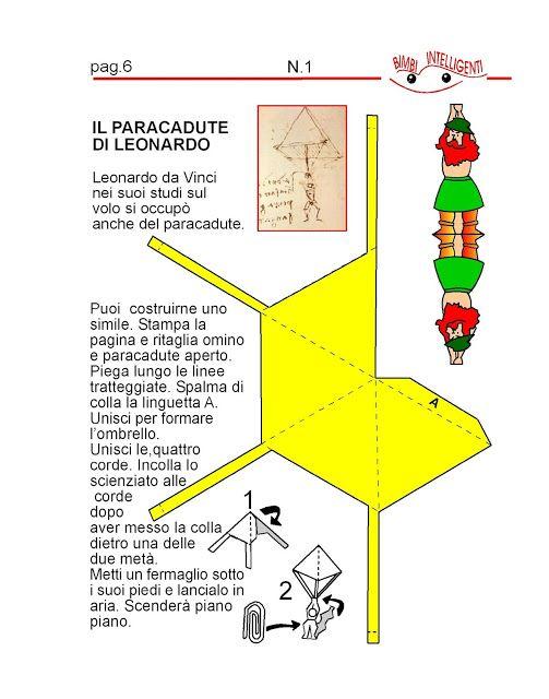 BIMBI INTELLIGENTI: IL PARACADUTE DI LEONARDO DA VINCI  DI BIMBI INTEL...