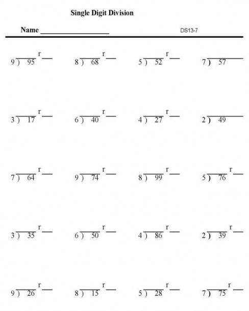 3rd Grade Math Division Worksheets Printable Division Worksheets Math Division Worksheets 3rd Grade Division