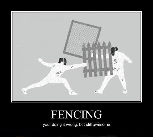 Fencing... LOL