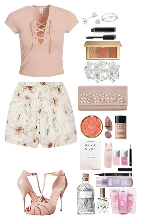 """Blush"" by krys-imvu on Polyvore featuring Haute Hippie, Alexander McQueen, NLY Trend, Amanda Rose Collection, M&Co, Milani, Mullein & Sparrow, Estée Lauder, Chanel and Christian Dior"