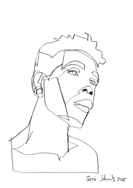 Continuous Line Drawing Of A Face : One continuous line drawing boris schmitz continuos