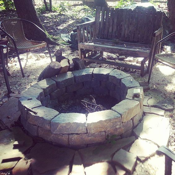 A little digging, a lot rocks, and we have our backyard firepit. Photo by pwgal
