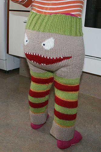 Das Monster Leggings - Free Knitting Pattern BABY PANTS ...