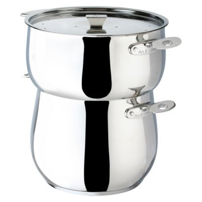art cuisine chaudron stainless steel couscous pot with