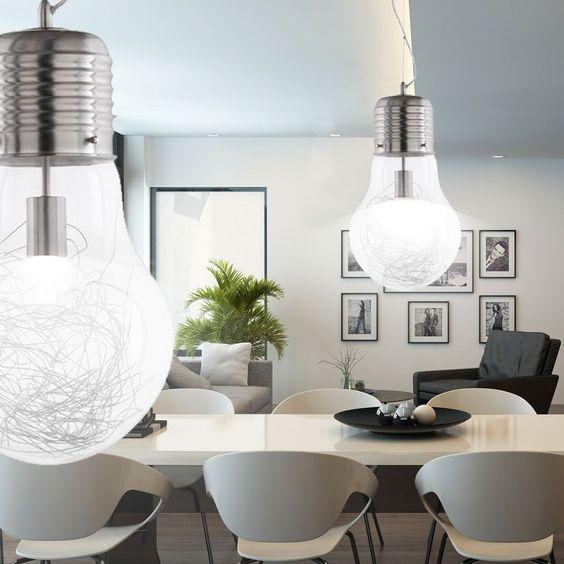 7W LED Design Pendel Leuchte Glühbirne Lampe Beleuchtung - leuchten fürs wohnzimmer