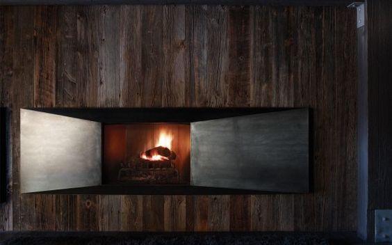 Aspen chalet fireplace. | japanesetrash.com