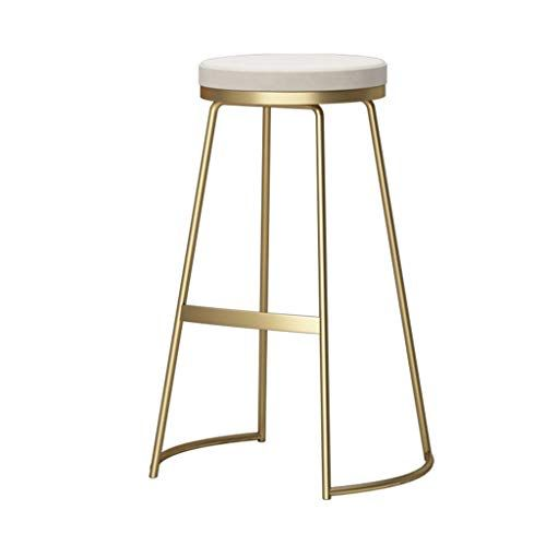 Bar Stool High Stool Bar Stools Kitchen Dining Chair Home Pub Counter Tall Chairs Front Desk Stools With Golden Leg Iron Bar Stools Metal Bar Stools Bar Stools