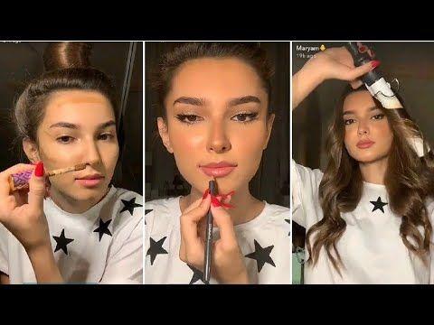 تتوريال مكياج ناعم تسريحة شعر ويفي سناب مريم مودل Youtube Hair Makeup Beauty Hair