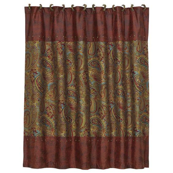 San Angelo Paisley Shower Curtain - Luxury Shower Curtains