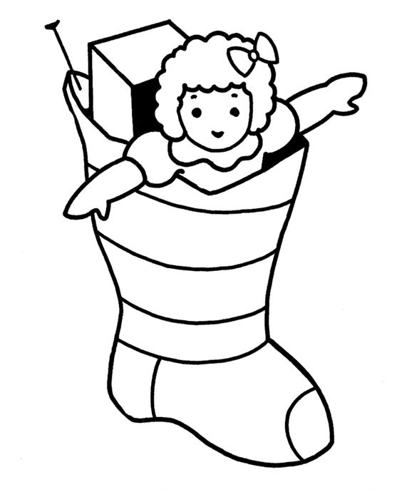 christmas doll coloring pages - photo#6