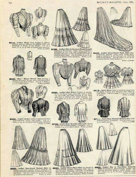 McCalls patterns from 1906