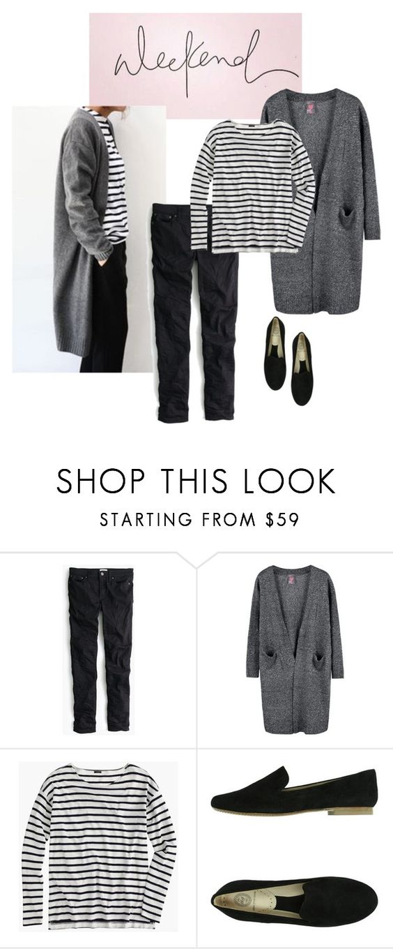 """Cozy Weekend"" by bluehydrangea ❤ liked on Polyvore featuring J.Crew and Rêve D'un Jour"