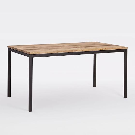 Box Frame Expandable Dining Table 60 80 Mango Wood Antique Bronze Metal Dining Table Expandable Dining Table Dining Table