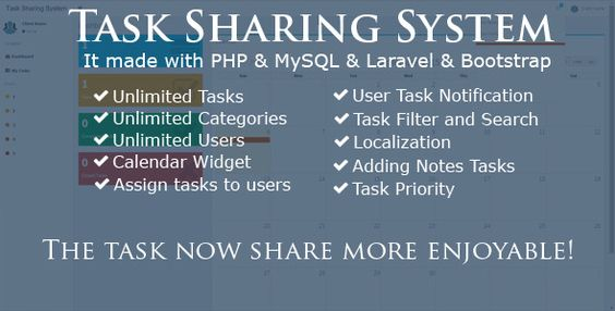 Download Free Task Sharing System Laravel Laravel Php Task
