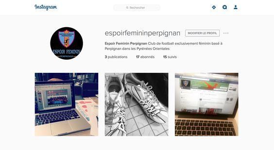 Espoir Féminin sur Instagram