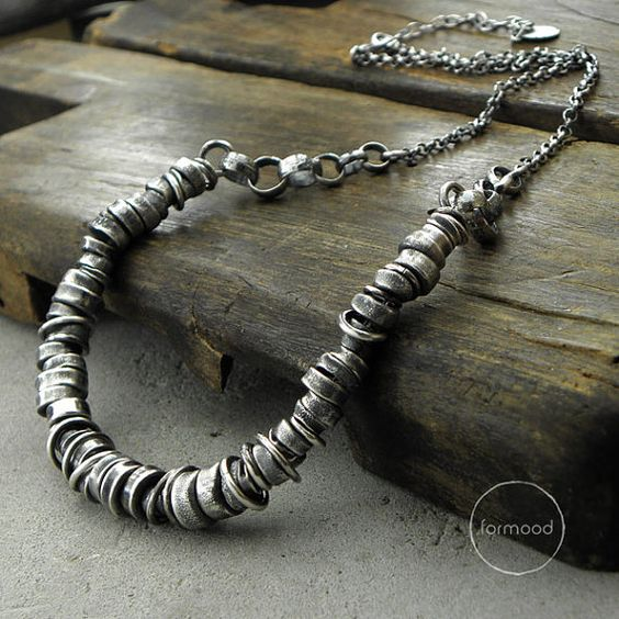 Sterling silver Necklace by studioformood on Etsy