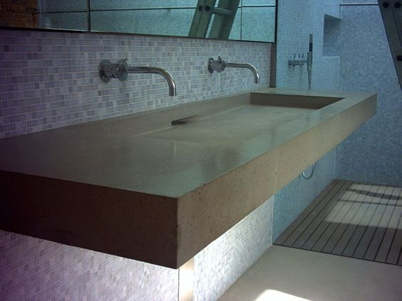 Polished Concrete Sinks Paul Davies Design Love This Sink And Slatted Shower Floor Attic