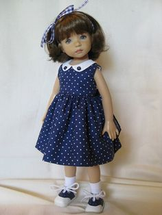NAVY and DOTS made to fit 13 Little Darling by darladelight: