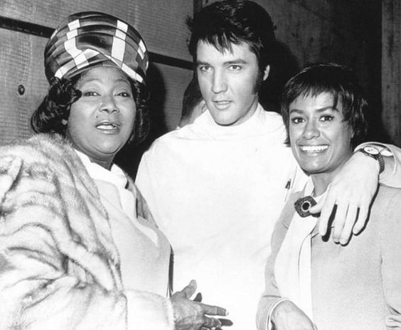 Image result for Elvis with Mahalia Jackson and Barbara McNair in 1969