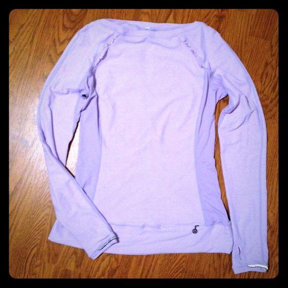 Lululemon long sleeve top Super soft purple long sleeve lulu top. No stains or pilling. Size 8 lululemon athletica Tops Sweatshirts & Hoodies