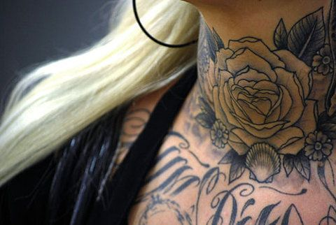 The throat tattoo inspiration I've had since I was ummm 16?...It's definitely probably still saved on my parents computer at home...I hope I get a job that allows this. ugh.