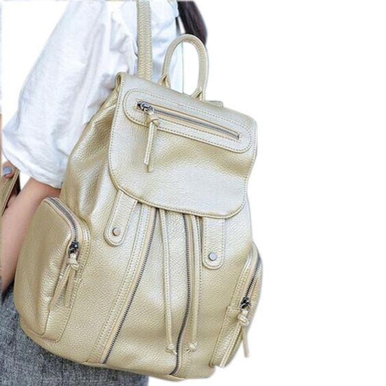 2016 caliente venta de la escuela mochilas bolso del recorrido del hombro de la taleguilla mochila mochila mujeres de cuero de envío gratis(China (Mainland))