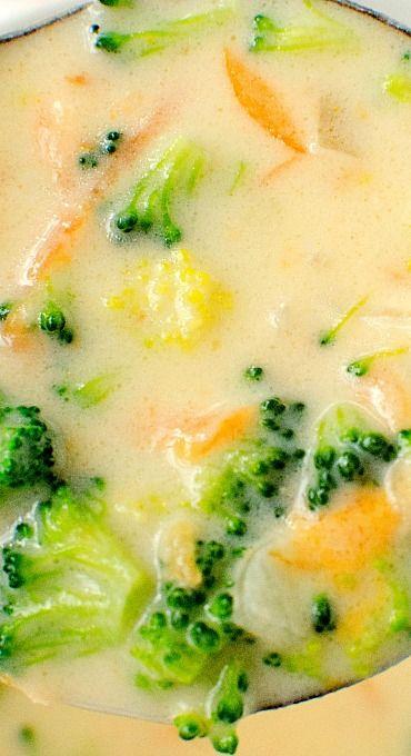 Homemade Panera Broccoli Cheese Soup