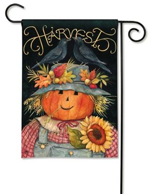 #Harvest Scarecrow Garden Flag.  100% All-Weather Polyester. Fade and Mildew Resistant. Machine washable. #scarecrow #gardenflags #gardenflag