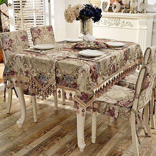 European Modern Table Cloth Simple Rectangular Garden Lace Tea Table Cloth A 100x100cm 39x39inch Tablecloth Dining Dining Chair Covers Dining Chairs