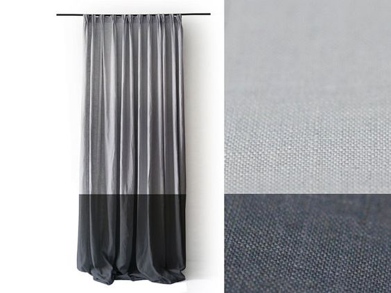Curtains Ideas blackout pinch pleat curtains : Linen curtains Pinch pleat drapery panel Color block curtain ...