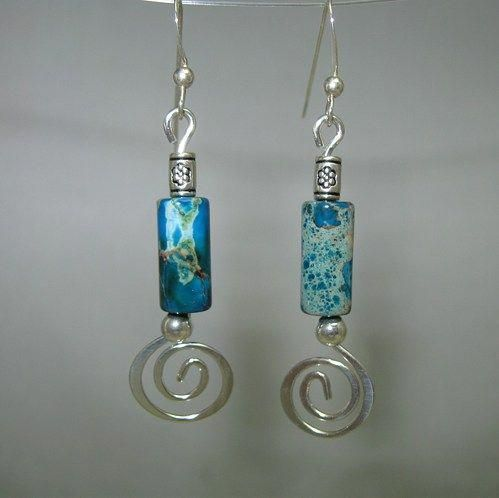 Sterling Water Lily Handmade Earwires