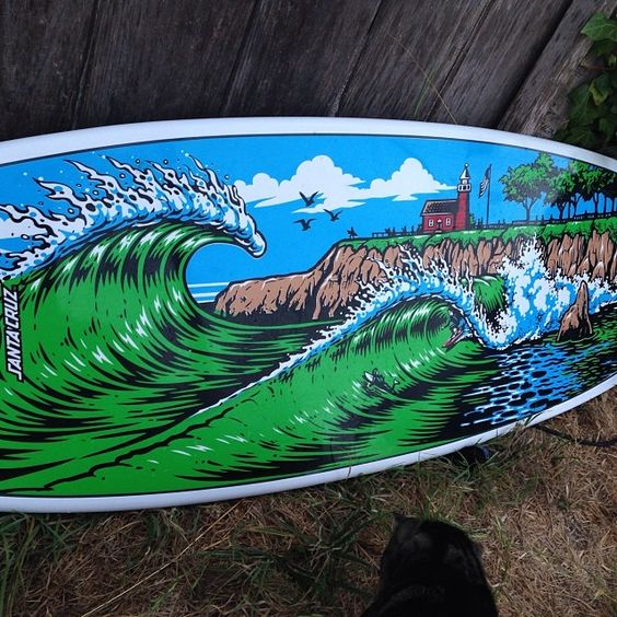 Steamer Lane pumpkin seed @santacruzsurfboards #santacruz #surf #art #graphics #jimbophillips