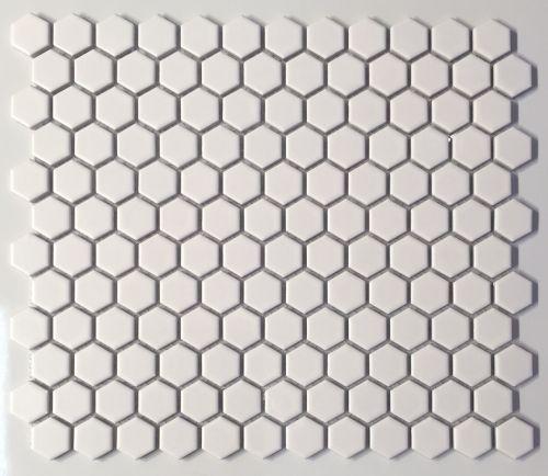 Roca Tile 1 X 1 Inch Hexagon Matte White Porcelain Mosaic Tile On Sale 3 95 Per Sq Ft Porcelain Mosaic Tile Porcelain Mosaic Mosaic Tiles