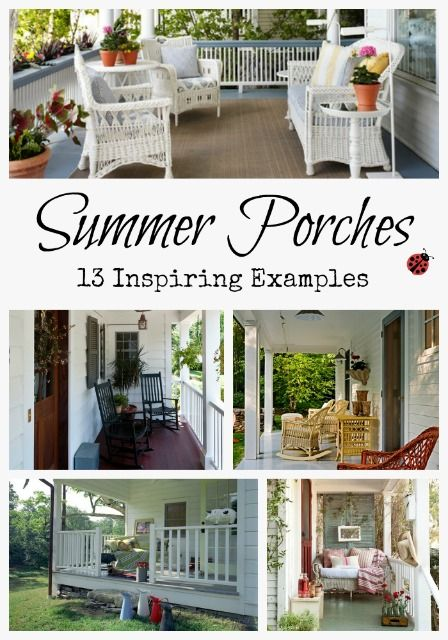 Front Porches Porches And Outdoor Living On Pinterest