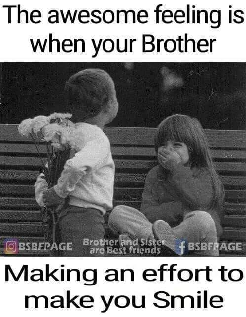 Its An Awesome Feeling Sister Quotes Funny Brother Sister Love Quotes Brother Quotes Funny