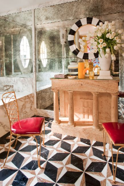 Kelly Wearstler Interiors Hillcrest Estate Bathroom