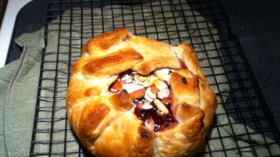 Baked Brie In Puff Pastry With Apricot Or Raspberry Preserves