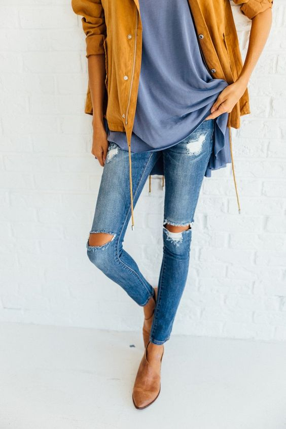 DETAILS: - Stretch Denim - Run small but have a lot of stretch - Model wearing…