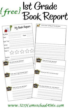 simple book report template first grade