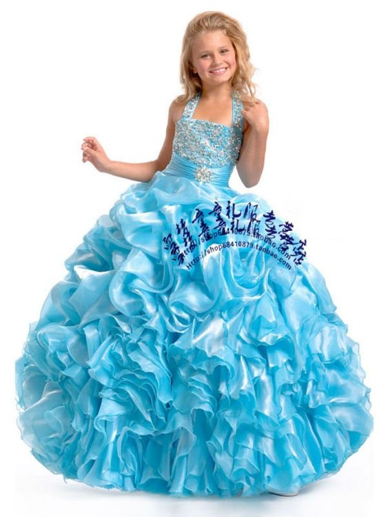 Cute 10 Year Old Dresses  ... Heavy Beaded Sequins Fashion ...