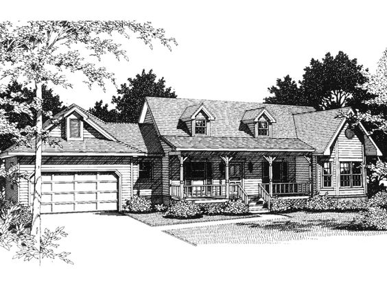 Butler Way Cape Cod Ranch Home House Plans Home And