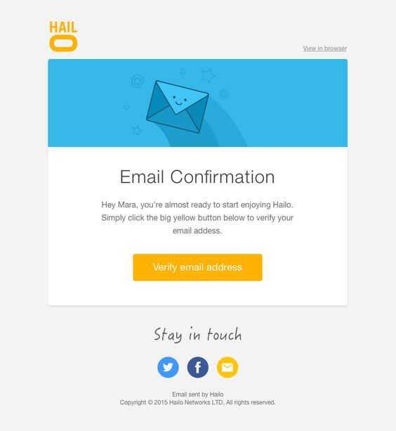 Hailo confirm email big   Disney Email Template   Pinterest