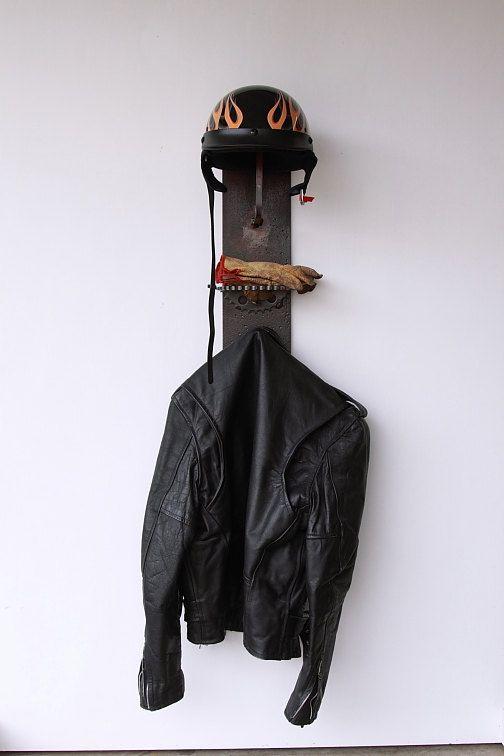 Industrial steel helmet rack/holder with sprocket by 4sawdust
