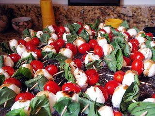 tomato, basil and mozarella appetizer