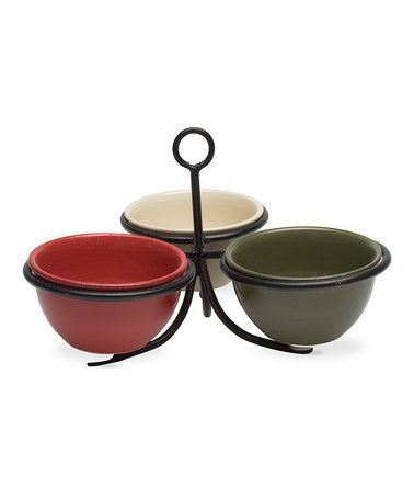 Take a look at this tag Green & Red Three-Condiment Caddy Set by tag on #zulily today!