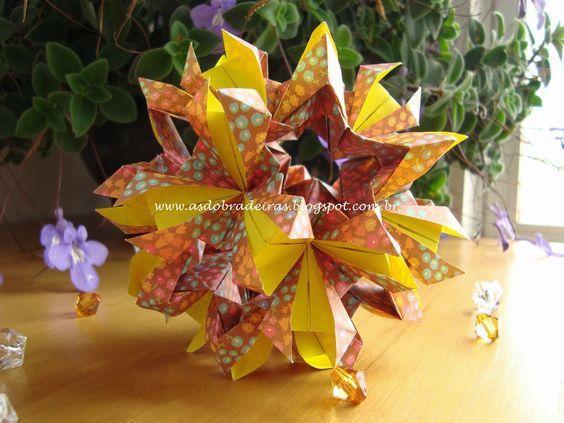 As Dobradeiras - Origami: Kusudama Immortelle by Ekaterina Lukasheva